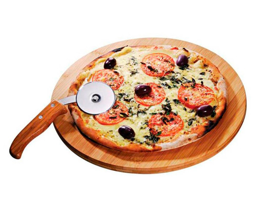 Jogo para Pizza em Bambu Helm - Natural, Natural   WestwingNow