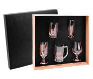 Jogo de Copos para Cerveja em Vidro Alya - Transparente | WestwingNow