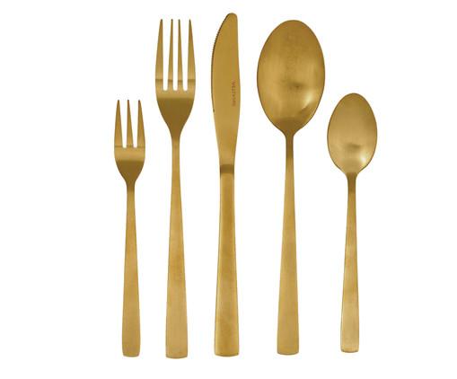 Jogo de Talheres em Inox Basic Dourado - 01 Pessoa, Dourado | WestwingNow