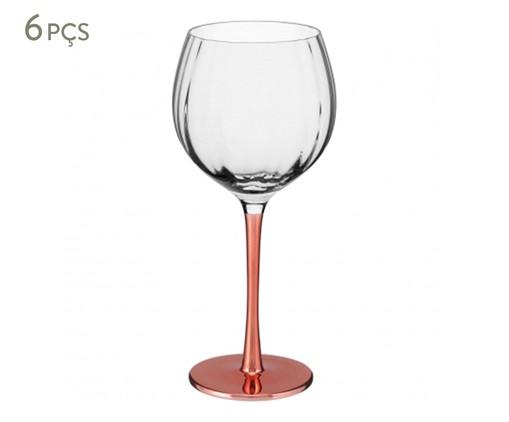 Jogo de Taças para Vinho em Vidro Dain 06 Pessoas - Transparente, Transparente   WestwingNow