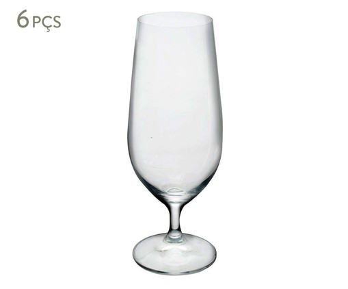 Jogo de Taças para Cerveja em Cristal Aysu - Transparente, Transparente   WestwingNow
