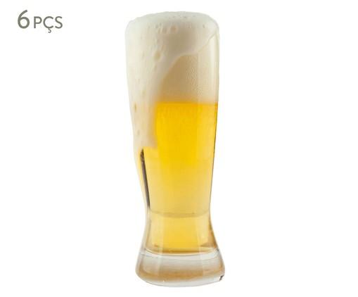 Jogo de Copos para Cerveja em Vidro Afyon - Transparente, Transparente   WestwingNow