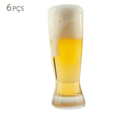 Jogo de Copos para Cerveja em Vidro Afyon - Transparente | WestwingNow