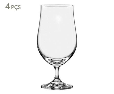 Jogo de Taças para Cerveja em Cristal Suna - Transparente | WestwingNow