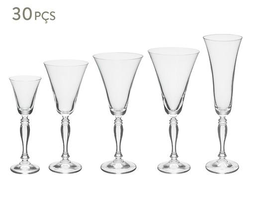 Jogo de Taças para Drinks em Cristal Gail - Transparente, Transparente | WestwingNow