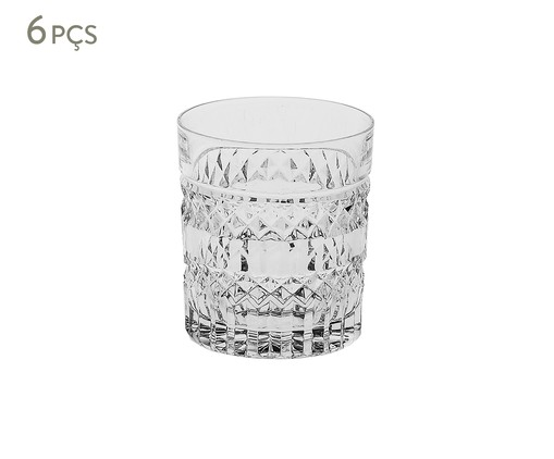 Jogo de Copos para Uísque em Cristal Inci - Transparente, Transparente | WestwingNow