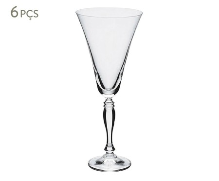 Jogo de Taças para Vinho em Cristal Vic - Transparente | WestwingNow