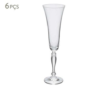 Jogo de Taças para Espumante em Cristal Pat - Transparente | WestwingNow