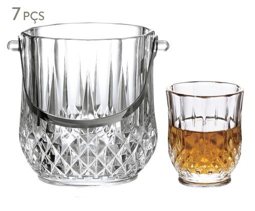Jogo para Whisky em Vidro Hoops - Transparente, Transparente | WestwingNow
