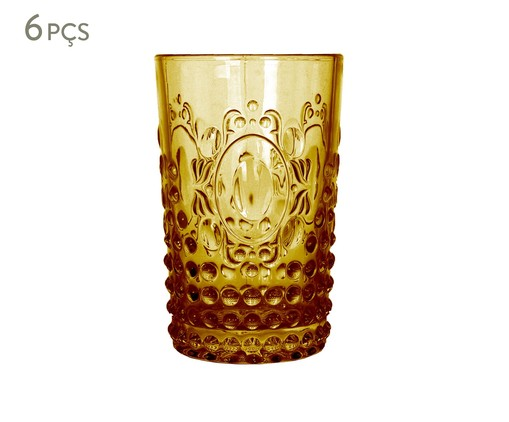 Jogo de Copos para Água em vidro Emma - Amarelo, laranja | WestwingNow