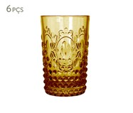 Jogo de Copos para Água em vidro Emma - Amarelo | WestwingNow