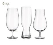 Jogo de Copos para Cerveja em Vidro Sima - Transparente | WestwingNow