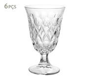 Jogo de Taças para Água em Cristal Abby - Transparente | WestwingNow