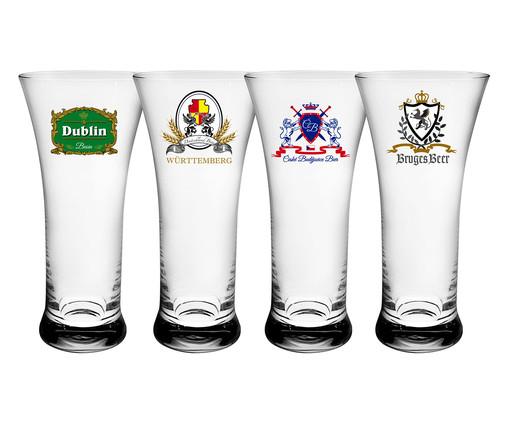 Jogo de Copos para Cerveja em Vidro Miro - Transparente, Transparente | WestwingNow