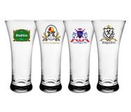 Jogo de Copos para Cerveja em Vidro Miro - Transparente | WestwingNow