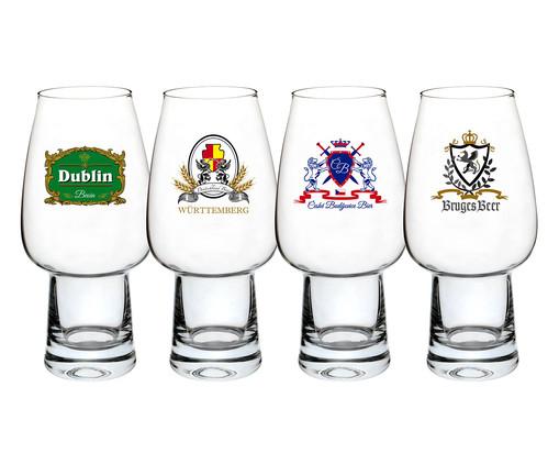 Jogo de Copos para Cerveja em Vidro Miro - Transparente, Transparente   WestwingNow