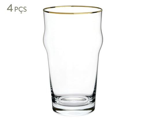 Jogo de Copos para Cerveja em Vidro Tali- Transparente, Transparente | WestwingNow