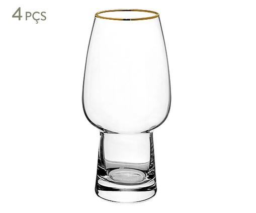 Jogo de Copos para Cerveja em Vidro Peri - Transparente, Transparente | WestwingNow