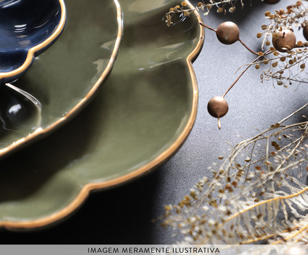 Jogo de Xícaras para Chá com Pires Pétala Atlântico - 04 Pessoas | WestwingNow