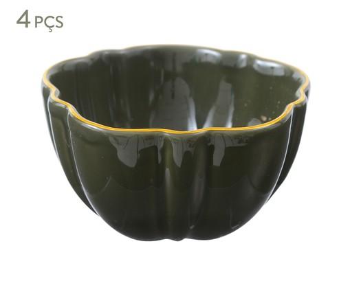 Jogo de Bowls Pétala Jade - 04 Pessoas, Verde escuro | WestwingNow