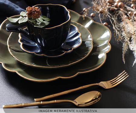 Jogo de Pratos para Sobremesa Pétala Jade - 04 Pessoas | WestwingNow