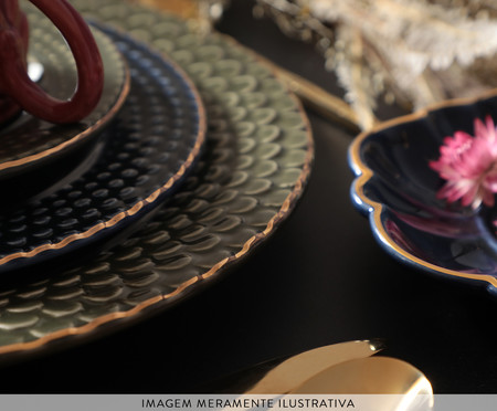 Jogo de Xícaras para Chá com Pires Escama Atlântico - 04 Pessoas | WestwingNow