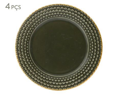 Jogo de Pratos para Sobremesa Escama Jade - 04 Pessoas | WestwingNow