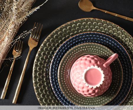 Jogo de Xícaras para Chá com Pires Escama Terracota - 04 Pessoas | WestwingNow