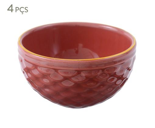 Jogo de Bowls Escama - Terracota, Marsala Queimado   WestwingNow