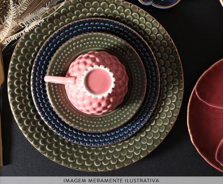 Jogo de Pratos para Sobremesa Escama - Terracota   WestwingNow