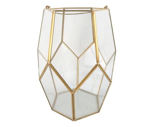 Vaso de Vidro e Metal Milly - Transparente e Dourado, Dourado, Transparente | WestwingNow