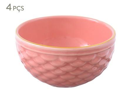 Jogo de Bowls Escama Rosa Ballet - 04 Pessoas | WestwingNow