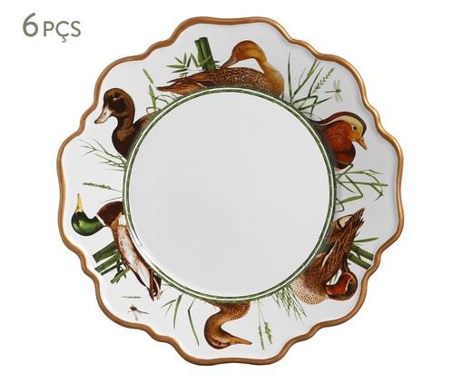 Jogo de Pratos Rasos em Cerâmica Rita 6 Pessoas - Estampado, Colorido | WestwingNow