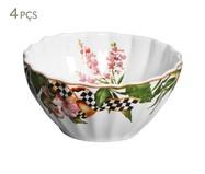 Jogo de Bowls de Cerâmica Floral Chess - 04 Pessoas | WestwingNow