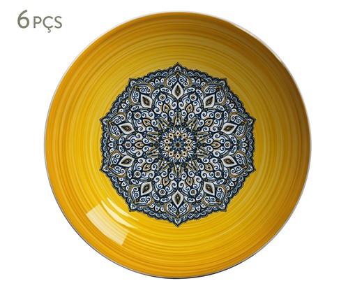 Jogo de Bowls em Cerâmica Maya - Amarelo, Azul e Amarelo | WestwingNow