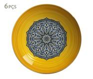 Jogo de Bowls em Cerâmica Maya Amarelo - 06 pessoas | WestwingNow