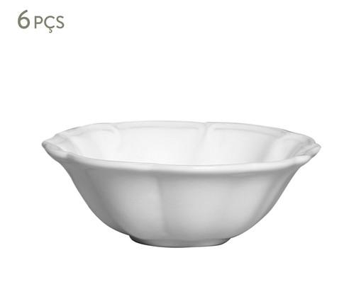 Jogo de Bowls de Cerâmica Sara Branco - 06 peças, Colorido | WestwingNow