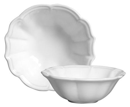 Jogo de Bowls de Cerâmica Sara Branco - 06 peças | WestwingNow