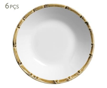 Jogo de Pratos Fundos em Cerâmica Lea 06 Pessoas - Branco | WestwingNow