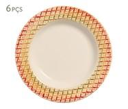 Jogo de Pratos Fundos em Cerâmica Bia - 06 Pessoas - Estampado | WestwingNow