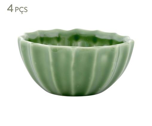 Jogo de Bowls Vitória-Régia Verde Nilo - 04 Pessoas, Verde   WestwingNow
