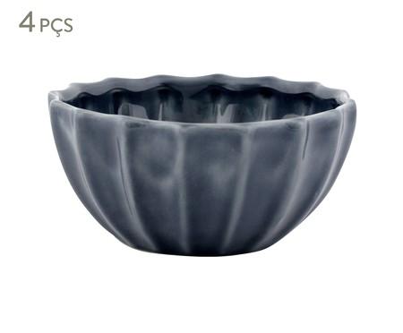 Jogo de Bowls Vitória-Régia Azul - 04 Pessoas | WestwingNow
