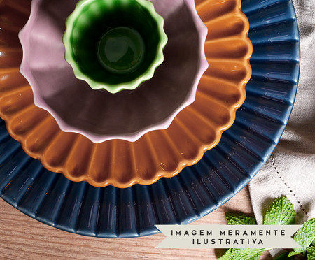 Jogo de Pratos para Sobremesa Vitória-Régia Colors - 04 Pessoas | WestwingNow