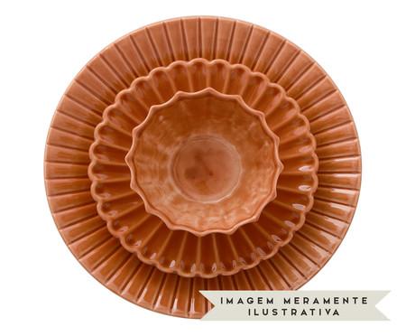 Jogo de Pratos para Sobremesa Vitória-Régia Ocre - 04 Pessoas | WestwingNow