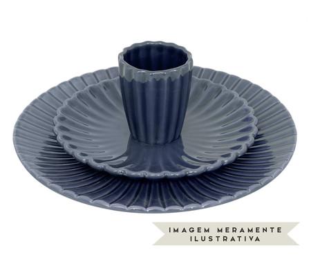 Jogo de Pratos para Sobremesa Vitória-Régia Azul - 04 Pessoas | WestwingNow