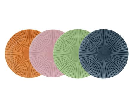 Jogo de Pratos Rasos Vitória-Régia Colors - 04 Pessoas | WestwingNow