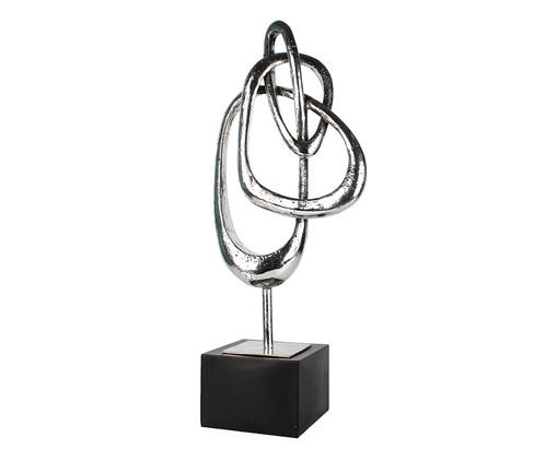 Adorno Decorativo em Resina Abstrato Williams - Prata, Prata / Metálico | WestwingNow