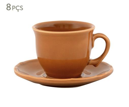 Jogo de Xícaras para Chá com Pires Bambu - Ocre, Ocre | WestwingNow