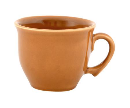 Jogo de Xícaras para Chá com Pires Bambu Ocre - 04 Pessoas | WestwingNow
