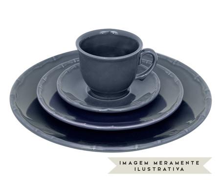 Jogo de Xícaras para Chá com Pires Bambu - Azul | WestwingNow